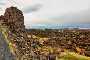 Stone Sentinel of Thingvellir by somadjinn