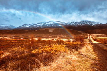 Iceland Mountain Rainbow - Revisited by somadjinn