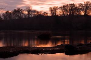 Potomac River Twilight - Swains Lock (freebie) by somadjinn
