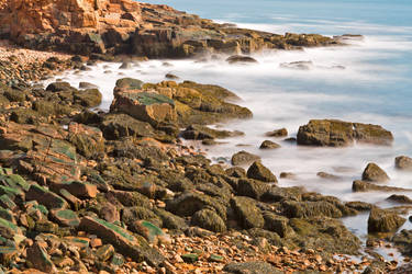 Rugged Thunder Hole Coast by somadjinn