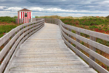 Candy Cane Beach Boardwalk by somadjinn