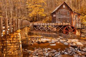 Golden Glade Creek Grist Mill by somadjinn