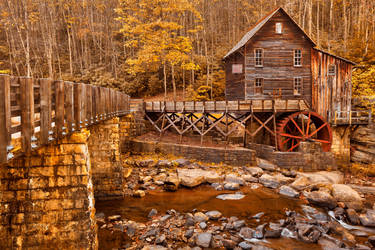 Golden Glade Creek Grist Mill by somadjinn