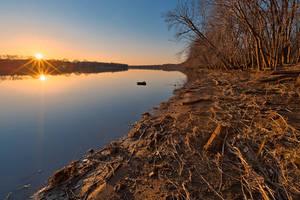 Potomac River Sunset III - Edwards Ferry by somadjinn