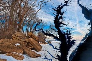 Winter Beach Bay by somadjinn