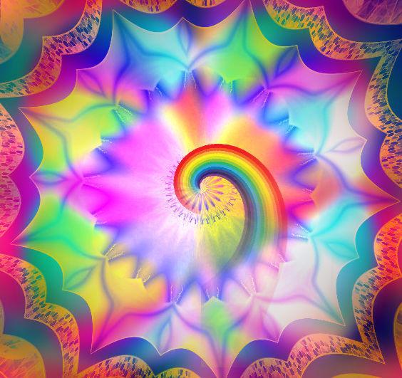 The origin of the rainbow spiral. by Mladavid