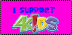 I support 4Kids Stamp by ZareoxTheHedgehog