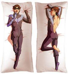 Nightwing Body Pillow by soltian