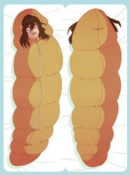 Aizawa In A Sleeping Bag, on a Pillowcase by soltian