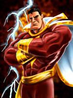 captain marvel Shazam by LazaroRuiz