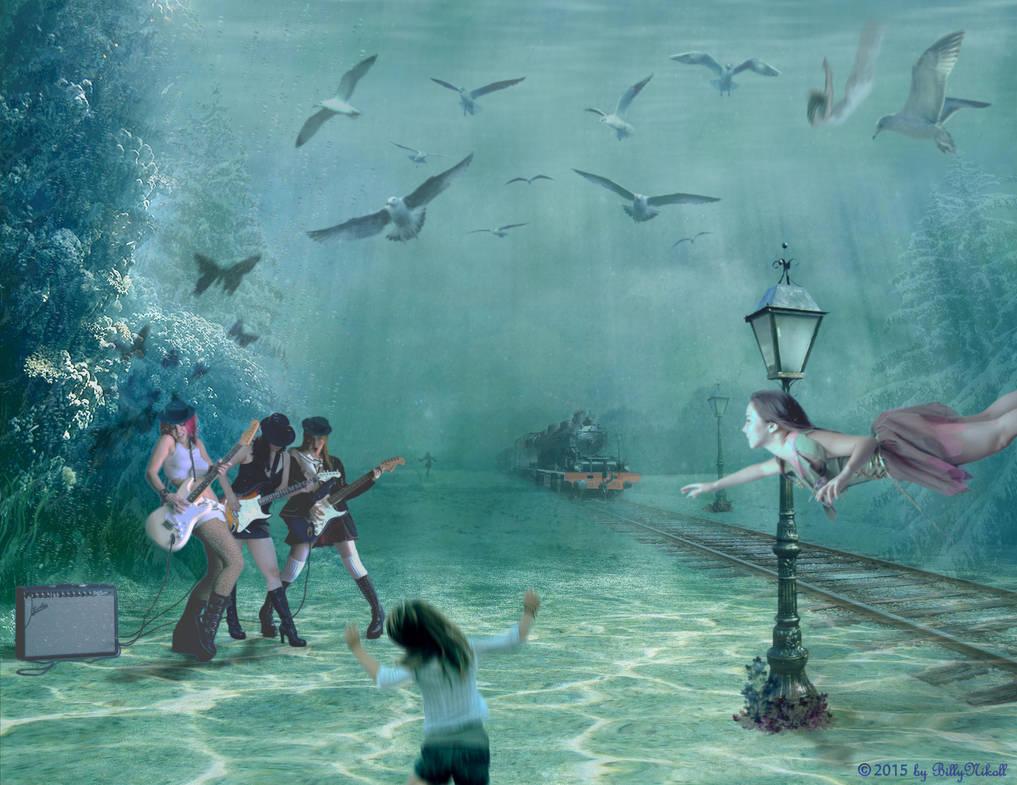 Underwater Rock Party by BillyNikoll