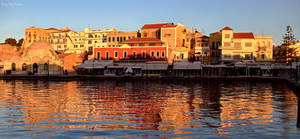 Panorama of Chania old port by BillyNikoll