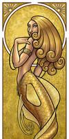 Mermaid Nouveau Gold by JillJohansen