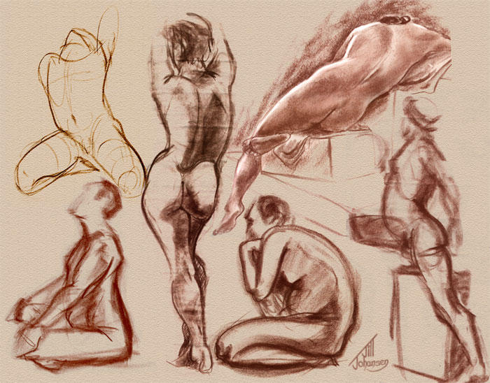 Figure Drawing Collage by JillJohansen