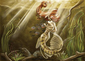 Mermaid of the Amazon by JillJohansen