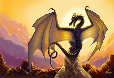 Perching Dragon by JillJohansen