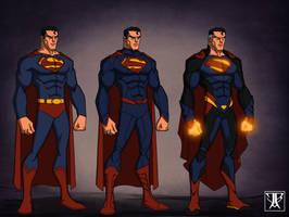 Superman evolution by WARBOUND-President