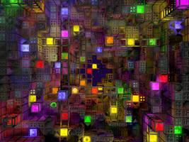 Cube habitat Wallpaper by jleoc