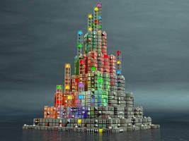 Cube Island by jleoc
