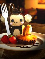 hungry monkey by greenxloser