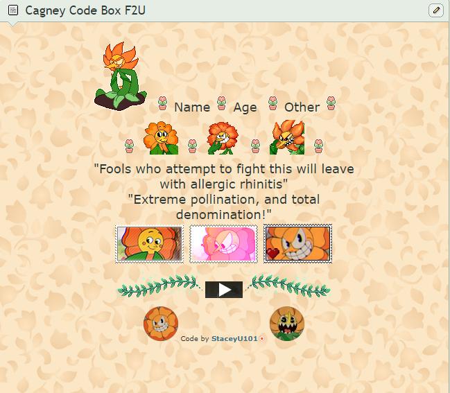 F2U Cagney Carnation Core Code Box by SleepyStaceyArt