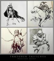 Inktober Sketches by HoustonSharp