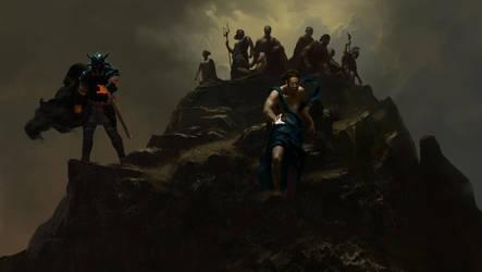 Wonder Woman - Gods Atop Olympus - Panel 2 by HoustonSharp