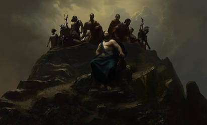 Wonder Woman - Gods Atop Olympus - Panel 1 by HoustonSharp