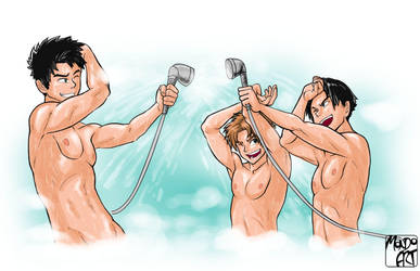 Commission - YJ Shower Fun Time by MondoArt