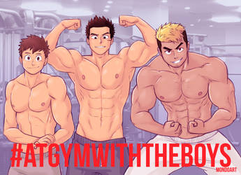 At Gym With The Boys by MondoArt