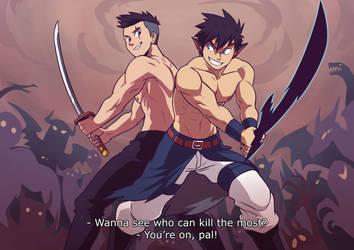 Epic Fight Scene by MondoArt