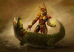 Anubis du neuf trois by kinkajoomotion