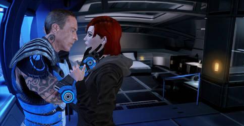Mass Effect: Femshep x Zaeed (XPS) by JocundaCosplay