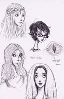 Lord of the Rings Sketches by SnowyElephant