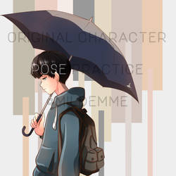 Boy With Umbrella (for graphic novel) by Mildemme