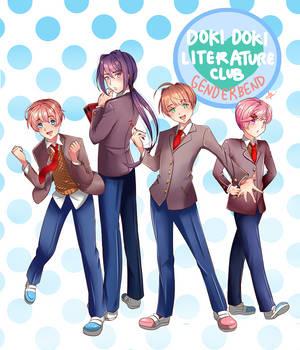 DokiDoki Literature Club Genderbend by Mildemme