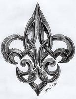 ...stoned fleur de lis II... by roblfc1892