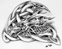 celtic dragon by roblfc1892