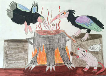 Vayamon 3- The Ibis Witches and Alan by Sia-the-Mawile