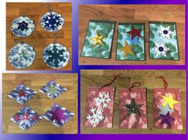 Handmade Christmas gift tags by Sia-the-Mawile