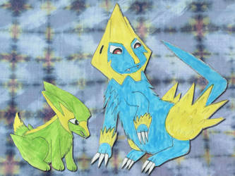 Electrike and Manectric by Sia-Mon