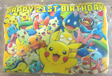 Pokemon birthday cake by Sia-Mon