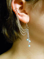 Ear Cuff Earring Set- Blue Ice by Min-Ekko
