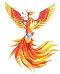 Sharpie Phoenix by shadee