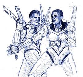 Obama vs Romney by happylilsquirrel