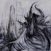 Temptation of Christ drawing on paper by masiani