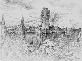 Torun 2030 - drawing on paper by masiani