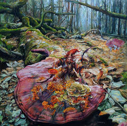 Gnome - pagan#balts#forest acrylic on canvas by masiani