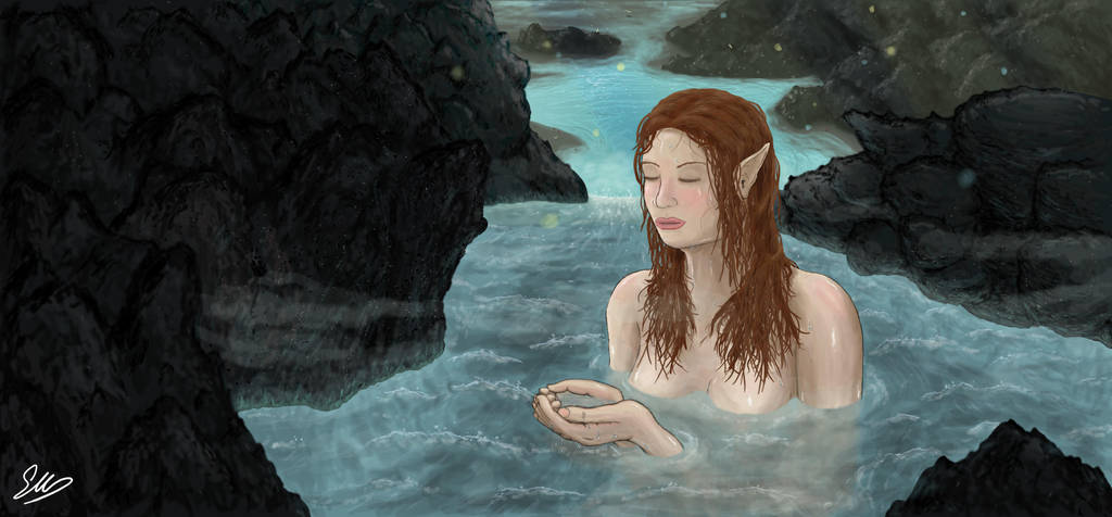 Lya bathing by wyky