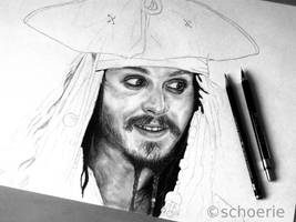 Captain Jack Sparrow WIP2 by Schoerie